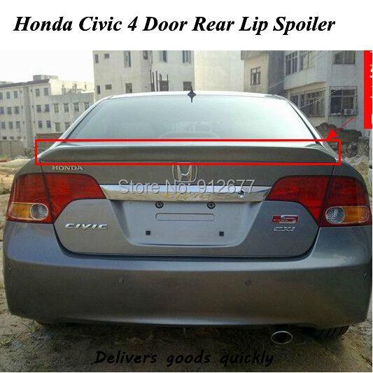 2008 Mazda6 4 Door Oem Style Spoiler: Factory Style Rear Wing Spoiler For Honda Civic 4 Door 2006 2008 2009,Custom Style Rear Lip