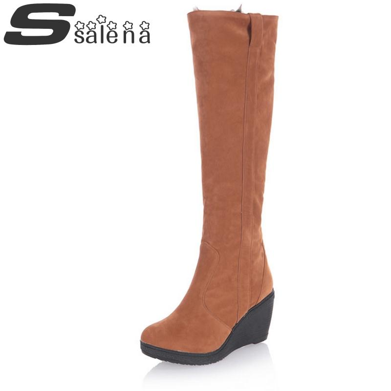 ФОТО Women Winter Boots Female Plush Shoes Multi Function Snow Fur Boots Fashion Slope With Tall Boots Hot Sale B860