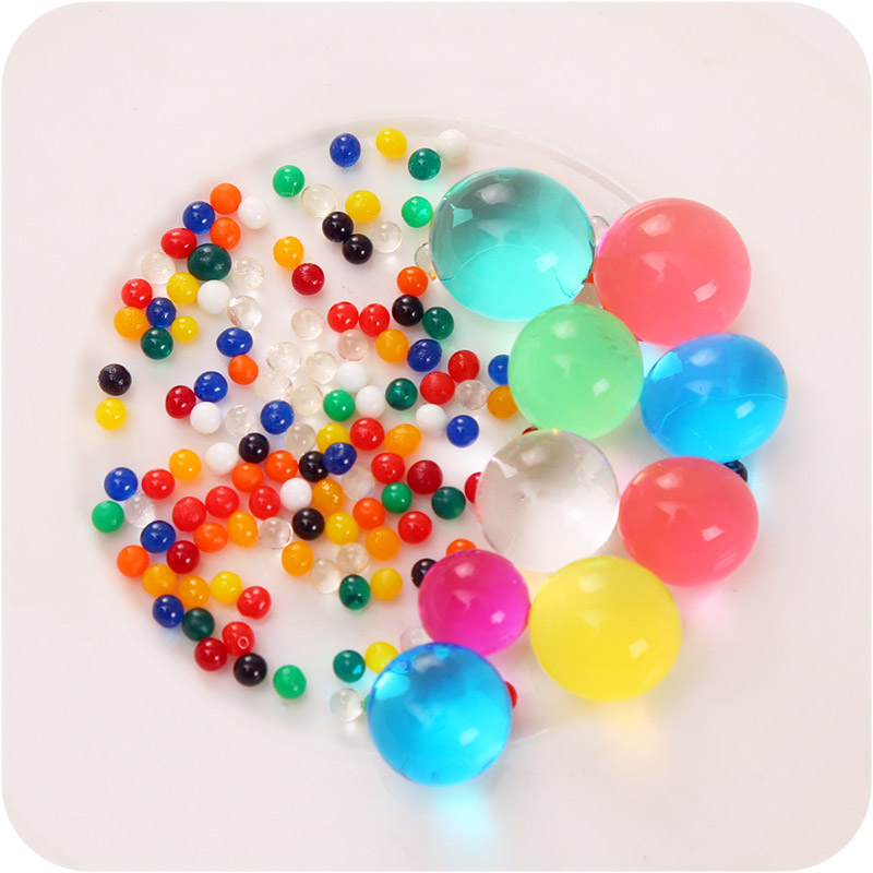 20000 Pcs/box Water Gun Bullet Seven Multi Colors Soft Crystal Water Paintball Bullet Grow Water Beads Balls Water Toy #6