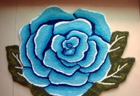2018 New 80*60cm Beautiful Rose Flower Shaped Rugs Carpets for living room Door Carpet Brand Floor Mat tapis alfombras Handmade