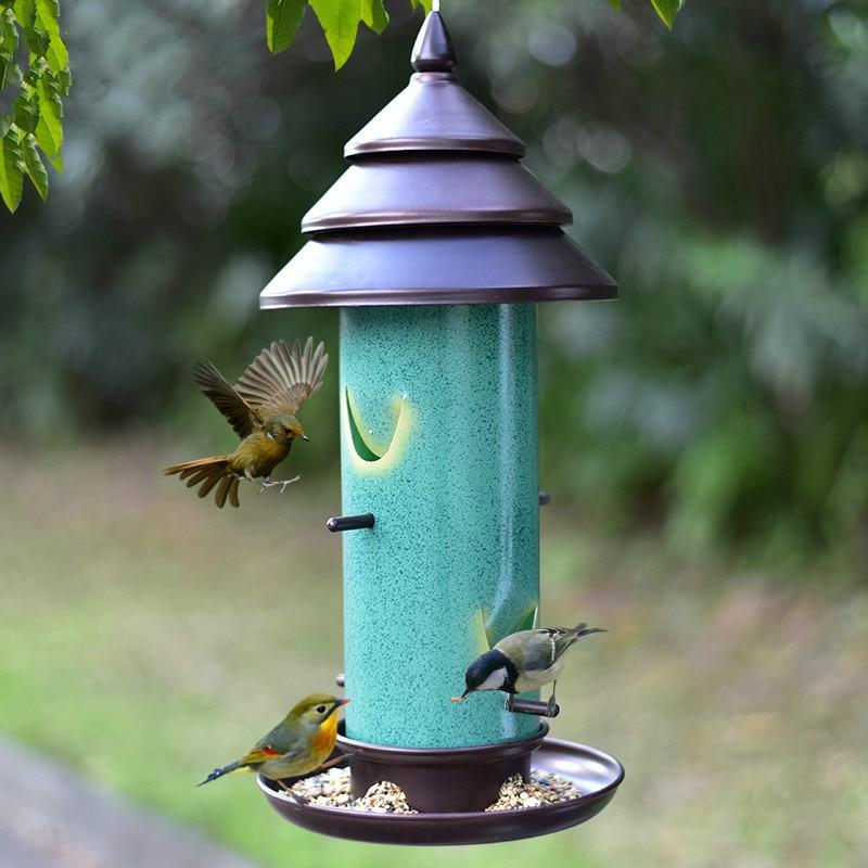 Nourriture pour oiseaux balcon extérieur fournitures d'alimentation pour oiseaux sauvages mangeoire pour oiseaux coupe automatique visualisation pratique ZP12191412