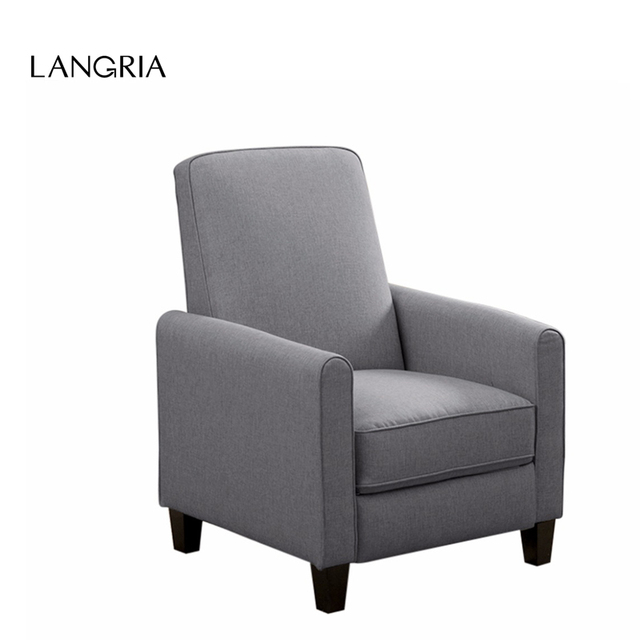 Langria Push Back Recliner Sofa Chair Lounger With Fabric Upholstery