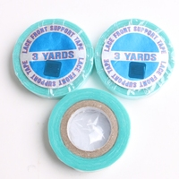 HARMONY 50pcs 1CM x 3 Yards Blue Lace Frontal Support Double sided Super Adhesive Tape Rolls for Lace Wigs PU Skin Weft
