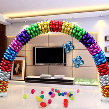 10 Pcs/lot Lovely 18inch Foil Clover Heart Shaped Balloons Arches Column Bracket Aluminum Baloon For Wedding Holiday Decoration