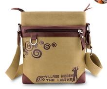 Anime Naruto Uzumaki Canvas Bag Messenger Shoulder Bag Sling Bag School Cosplay 27*24*4cm