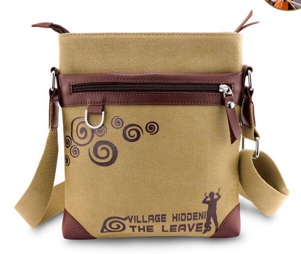 Anime font b Naruto b font Uzumaki Canvas Bag Messenger Shoulder Bag Sling Bag School font