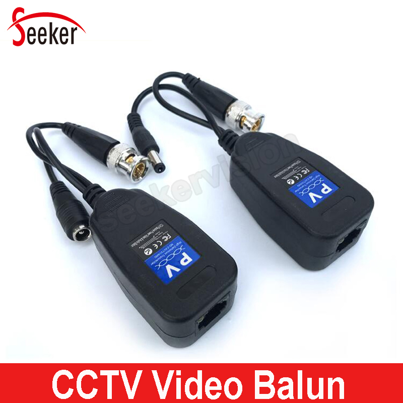 HD DC Passive Coaxial Cat5 BNC Connector Twisted Accessories Transceiver BNC UTP CCTV Video Balun for HD AHD TVI CVI CVBS Camera bnc video balun passive transceiver coax cat5 camera utp cable coaxial adapter for 200 450m distance ahd hdcvi tvi camera