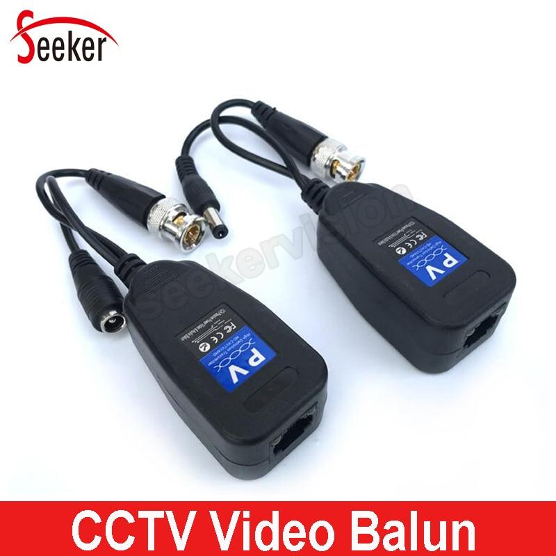 HD DC Passive Coaxial Cat5 BNC Connector Twisted Accessories Transceiver BNC UTP CCTV Video Balun For HD AHD TVI CVI CVBS Camera