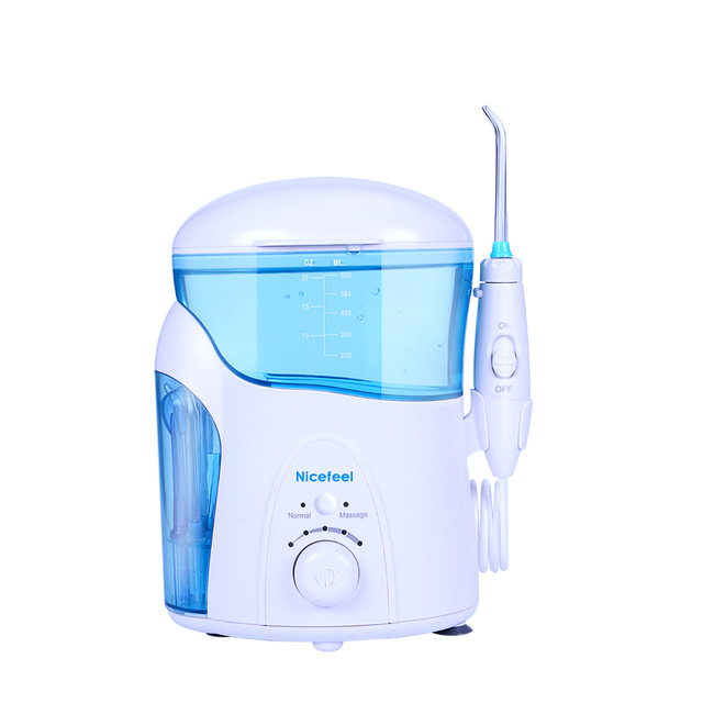 Dental Care NICEFEEL Rechargeable Water Pick Teeth Cleaning Oral Irrigator FC-288 Dental Water Jet Flosser With 7pcs Jet Tips oral irrigator faucet water flosser power dental water jet oral care teeth cleaner spa dental irrigator irrigation with 6 tips