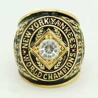 New Fashion Gold Plated Vintage Replica 1952 NY Yankees Major League Baseball Championship Ring For Fans