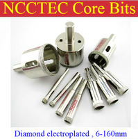 63mm 2-1/2 inch NCCTEC Diamond Electroplated coated drill bits ECD63 FREE shipping | 2.5'' WET glass concrete coring bits 165mm 6 5 inch ncctec electroplated diamond core drill bits ecd165 free shipping wet glass ceramics coring tools