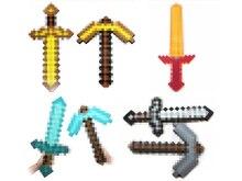 1 unids Minifigures Myworld Minecraft Nuevo Diseño Pulseras Juego Diamante 4 estilo Color Cuerda Deporte EVA Regalos de Cumpleaños Modelo