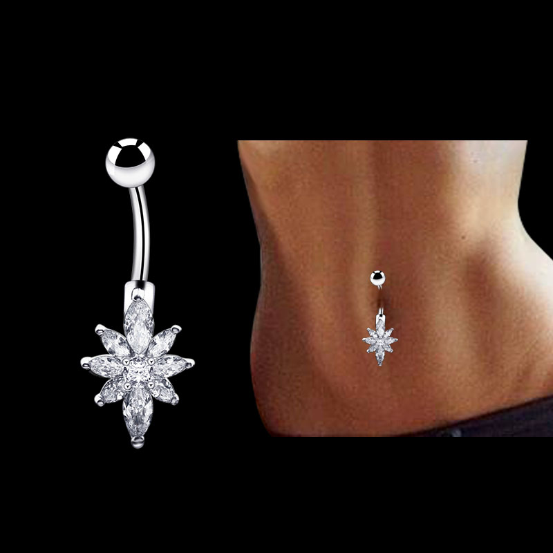 Belly Button Rings Flower...