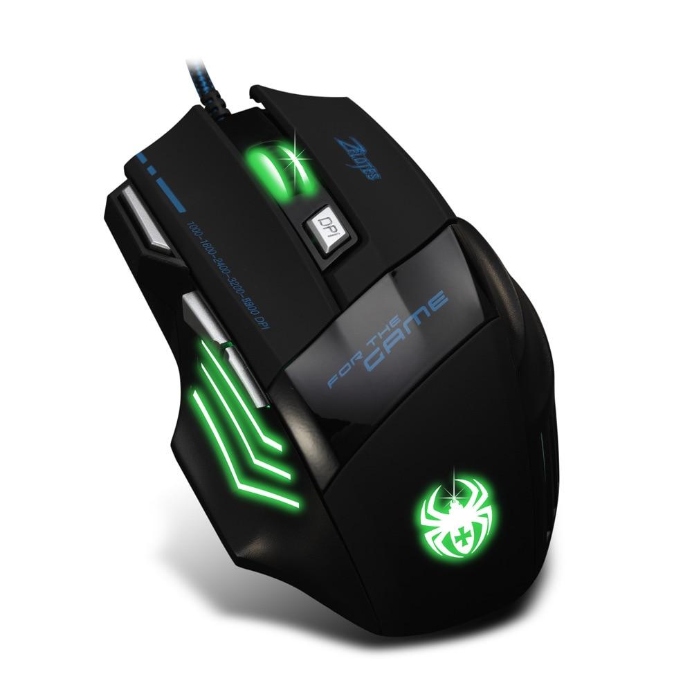 Image 3 - 7200 точек/дюйм, Проводная игровая мышь 7 кнопок светодиодный оптический USB компьютерная мышь геймер мышь игровая мышь для ПК ноутбука-in Мыши from Компьютер и офис
