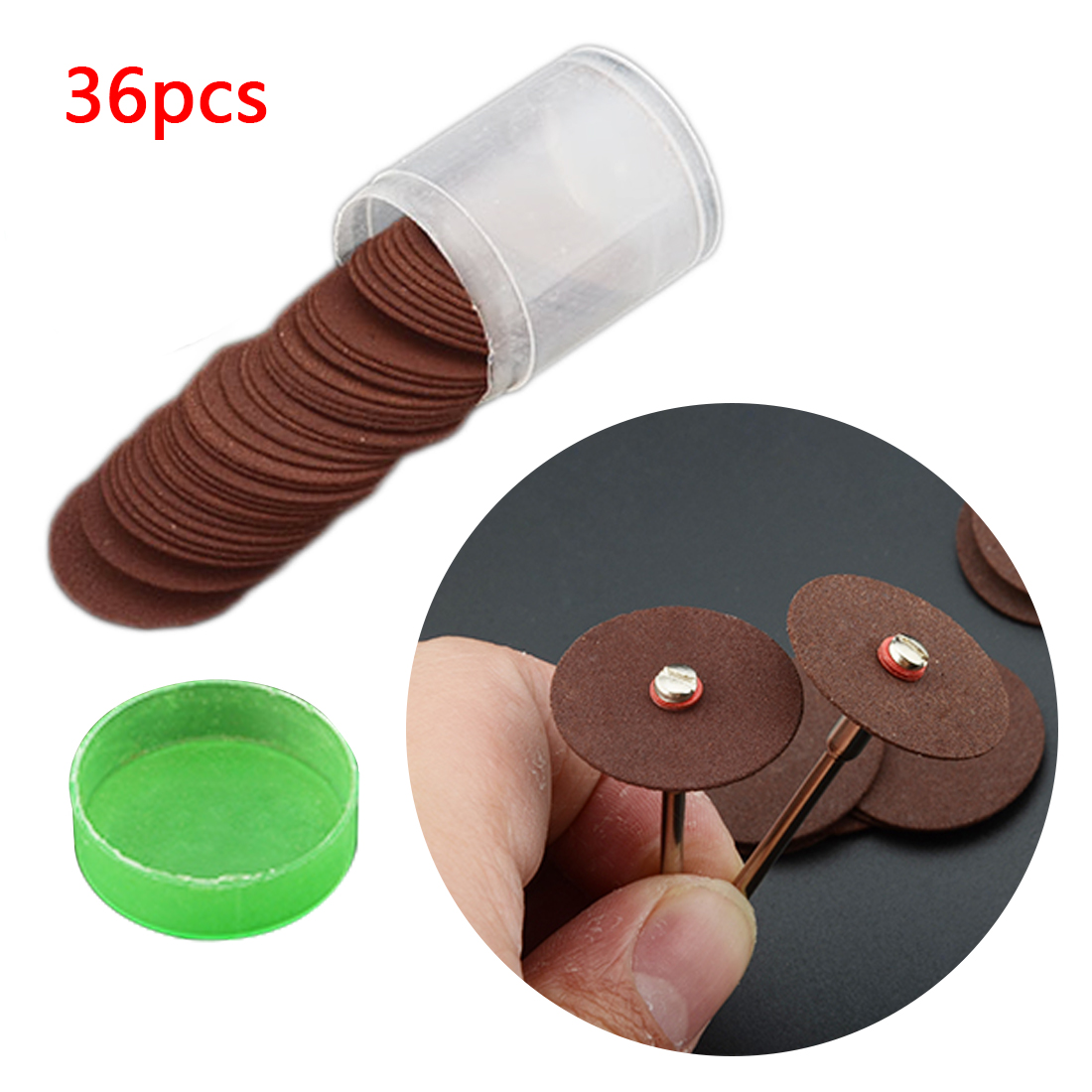 36pcs Dremel Accessories 24mm Abrasive Disc Cutting Discs Reinforced Cut Off Grinding Wheels Rotary Blade Disc Tool
