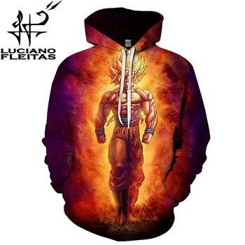Exclusive New Hoodie Anime Hoodies Dragon Ball Z Pocket Hooded Sweatshirts Kid Goku 3D Hoodies Pullovers Men Women Outerwear
