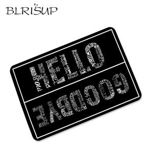BLRISUP Doormat Floor-Mat Rubber Welcome Anti-Slip Outdoor-Entrance Black Front Hello-Goodbye