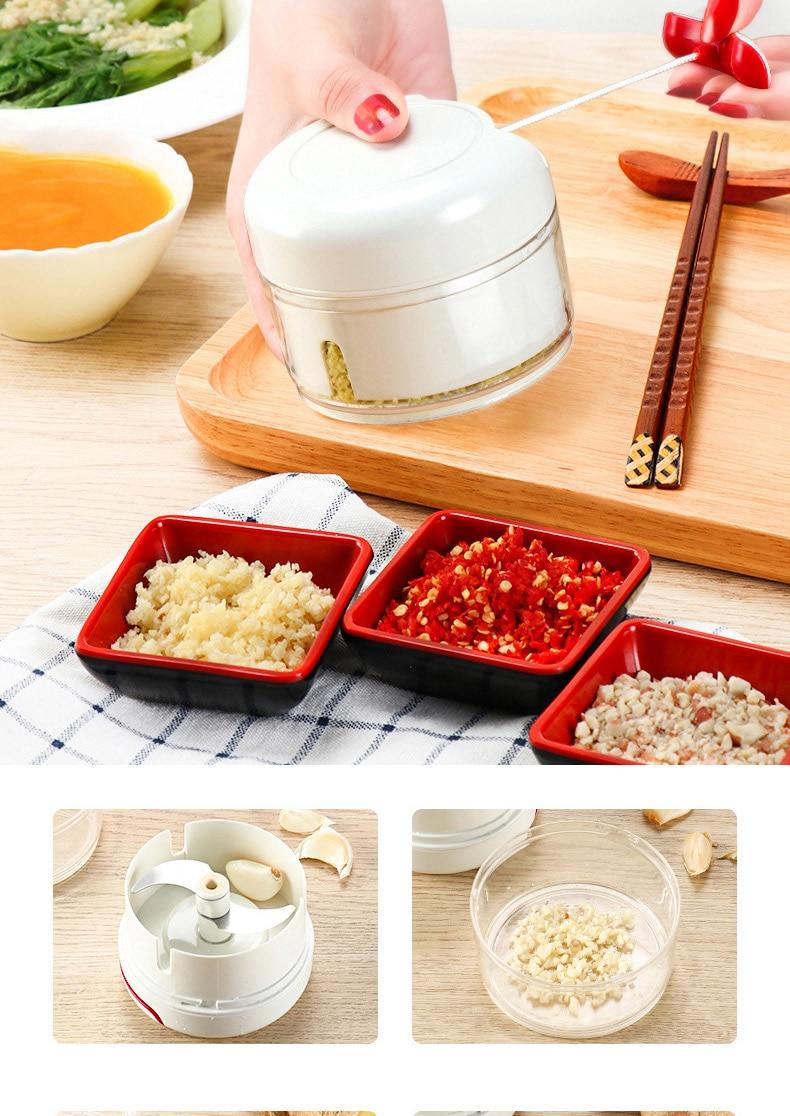 Mini 170ML Powerful Meat Grinder Hand-power Food Chopper Mincer Mixer Blender to Chop Meat Fruit Vegetable Nuts Shredders