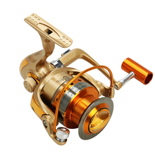 special aluminum body fishing roll bearing 14 1bb high speed reel rotating fishing wheel reel free shipping sale 1000-9000 11 + 1BB 5.2:1 High Speed Fishing Reels Metal Rocker Reel Fishing Reel Wheel Rotation Outdoor Fishing shipping sale