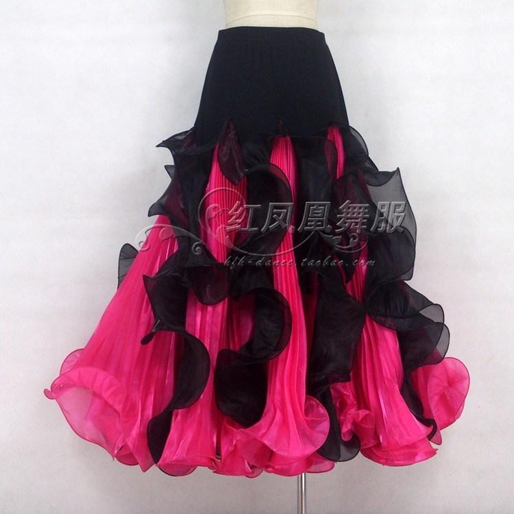 New style Ballroom dance costumes sexy spandex ballroom dance skirt for women ballroom dance skirts S