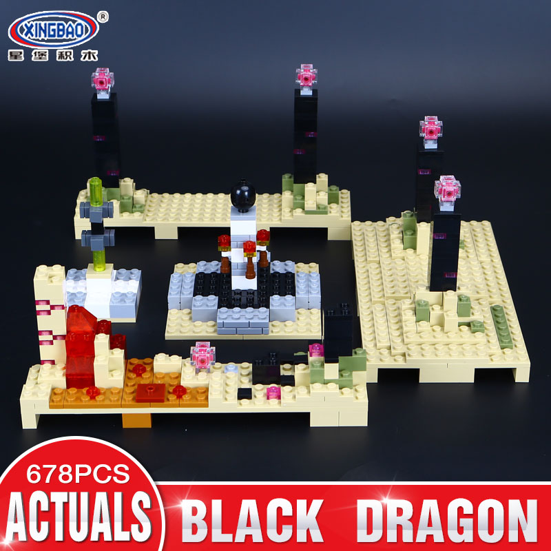Xingbao 09004 678Pcs Blocks Life Series The Black Dragon Set Children Educational Toys Building Blocks Bricks Boy Model Gifts