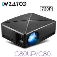 WZATCO 2200lm Android WIFI Portable Pico mini HDMI projecteur LED poche cinéma maison Proyector support full HD 1080p 4K