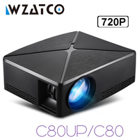 WZATCO 2200lm Android WIFI Portable Pico mini HDMI LED Projector Pocket Home Cinema Proyector Beamer support full HD 1080p 4K