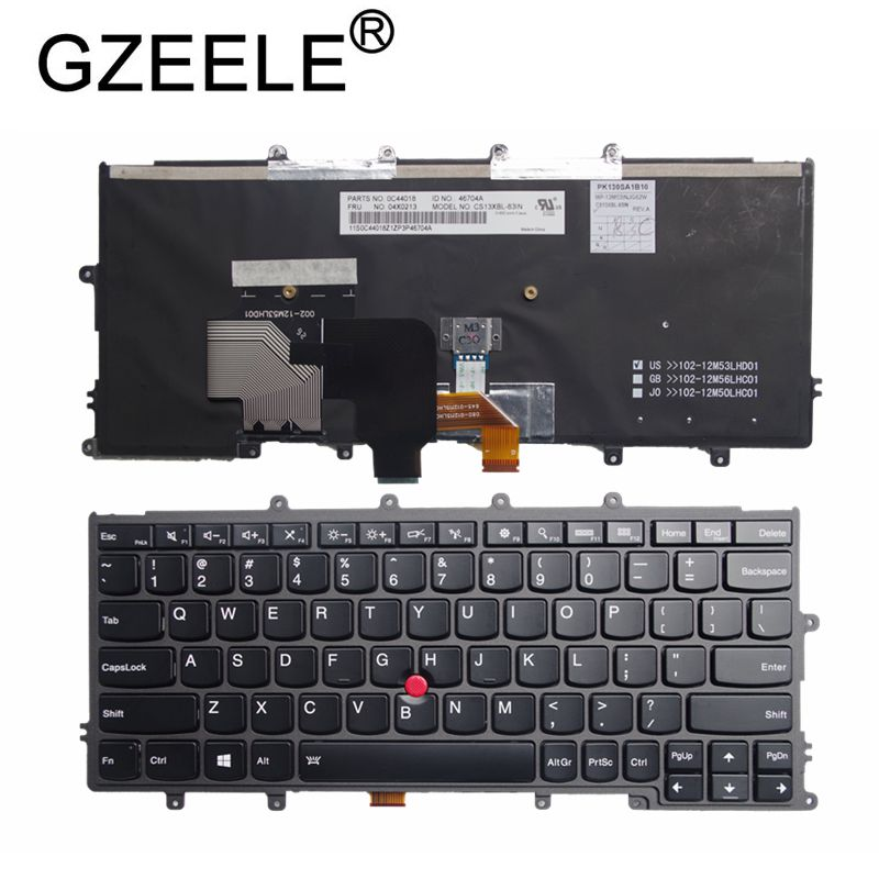 GZEELE English US Laptop Keyboard For LENOVO FOR Thinkpad X230S X240 X240S X250 X250S X240i X270 X260S Laptop With Backlight New
