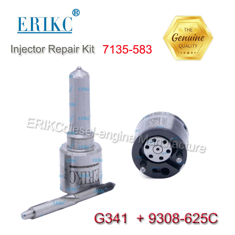 ERIKC 7135-583 diesel fuel injector repair kits 7135z583 valve 9308-625C nozzle G341 for delphi injector EMBR00101D 9686191080 high quality diesel common rail fuel nozzle control valve 28239295 9308 622b 9308z622b 28278897 for delphi havel fuel injector