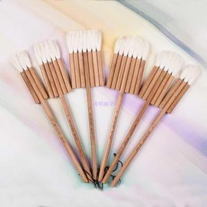 Image 4 - 2690 3PCS/set goat hair carbonated bamboo handle watercolor artist art supplies paint brush