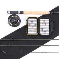 Maximumcatch New 9054 Medium fast Fly Fishing Rod Combo Carbon Fiber Fly Rod with Reel&Lines&Flies& Box