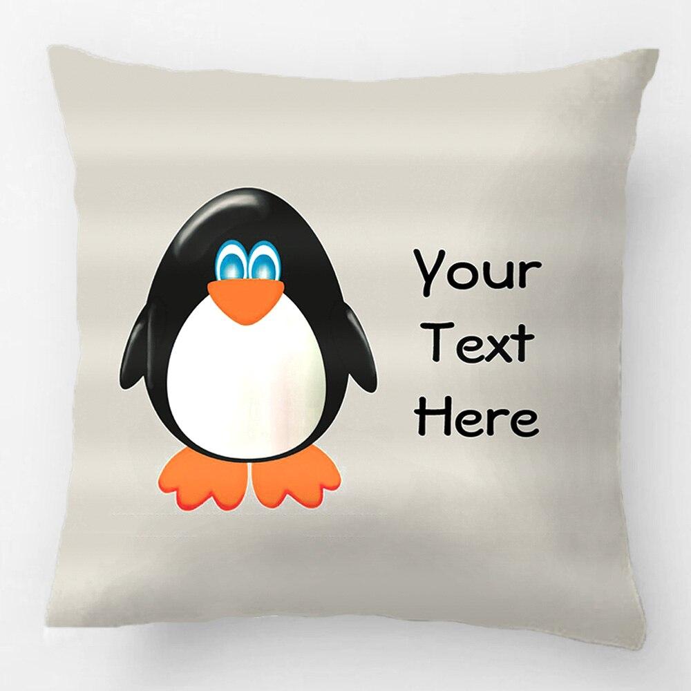Taie D Oreiller A Personnaliser €5.02  pingouin personnalisé jeter taie d'oreiller décoratif housse de  coussin taie d'oreiller personnaliser cadeau de haute qualité par lvsure  pour
