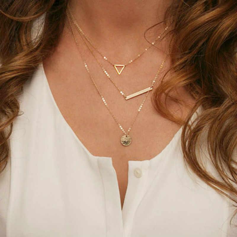 Hot Fashion Gold Multilayer Münze Quasten Lariat Bar Halsketten Perlen Halsband Feder Anhänger Halsketten Für Frauen