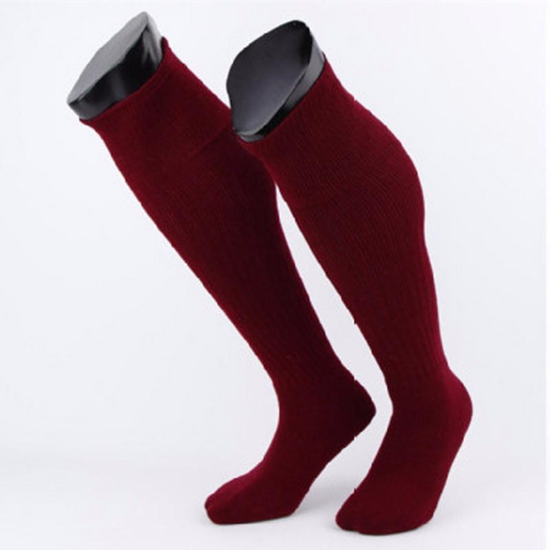 men football baseball basketball cycling socks dark red