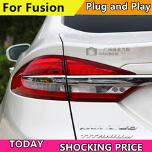 Car Styling Tail lekki futerał do Ford Fusion Taillights 2017 2019 tylna lampa LED tylna lampa DRL + hamulec + Park + lampka sygnalizacyjna