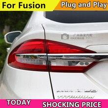Чехол для заднего фонаря автомобиля для Ford Fusion, задний фонарь s 2017 2019, светодиодный задний фонарь DRL, стоп сигнал, паркосветильник свет