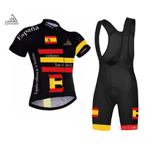 2017 Tour of Spain cycling clothing /Eyessee high-grade super soft breathable mesh short sleeve bicycle clothing ropa ciclismo(China)