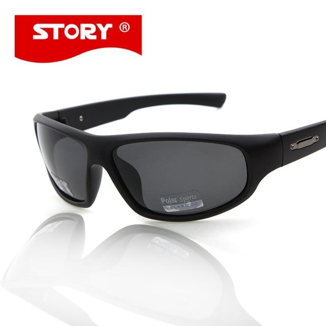 655c22ebe6fc5 HISTÓRIA Dos Homens Polarizados óculos de Sol Do Esporte Escudo Espelho  Lentes UV400 Proteção Dos Olhos