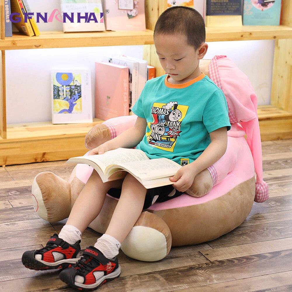 1 pc 45*45*55 cm mignon ours en peluche canapé oreiller en peluche kawaii Animal ours en peluche avec chapeau coussin en peluche jouet en peluche canapé bébé jouets