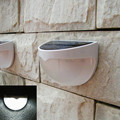 Solar Patio Lawn Lights Outdoor Landscape Lighting Waterproof Wall Lamp Security Night Lights White / Warm White