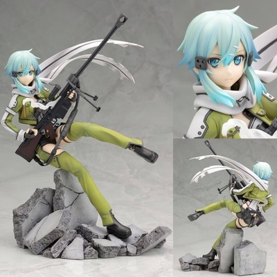 Anime Figure Kotobukiya Sword Art Online Figure GGO Sinon Asada 8 PVC Action Figure Model Doll Toys Brinquedos Free Shipping male female movable body joint action figure toys artist art painting anime model doll mannequin art sketch draw human body doll