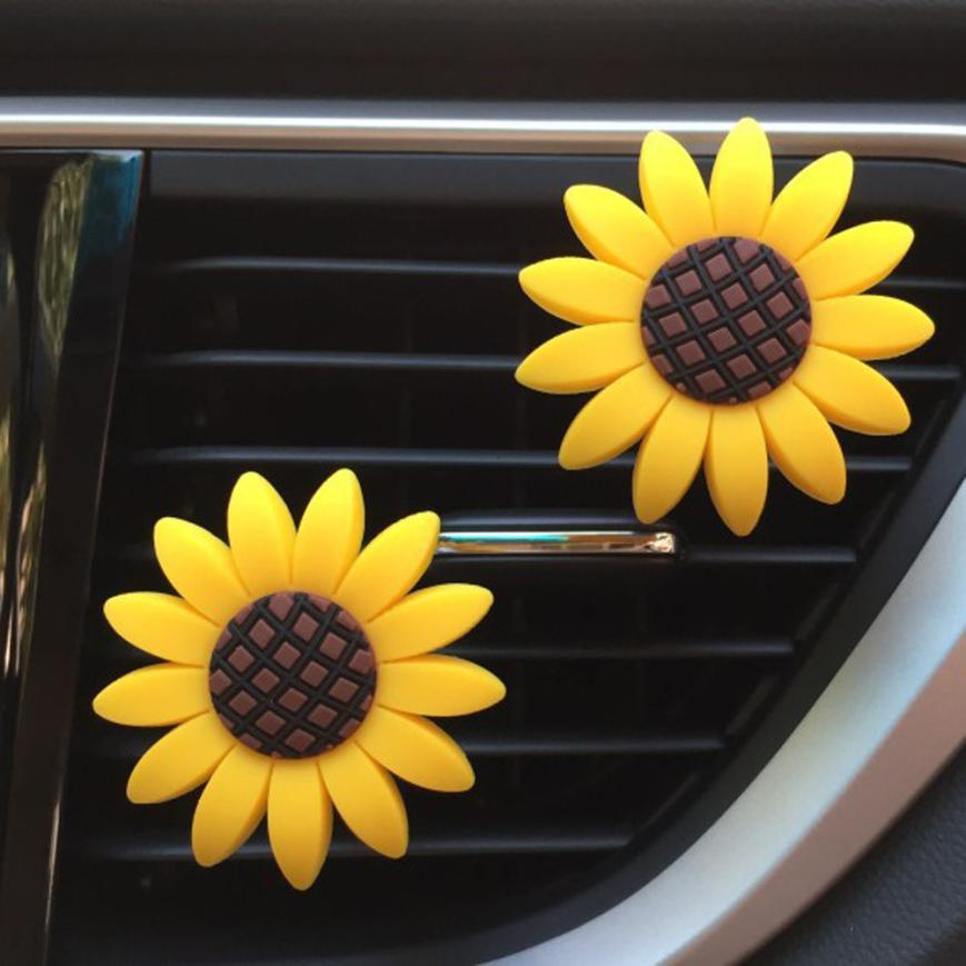 Car Air Freshener Clip Car Multiflora Sunflower Air Outlet Fragrant Perfume Clip Air Freshener Diffuser drop shipping jun5
