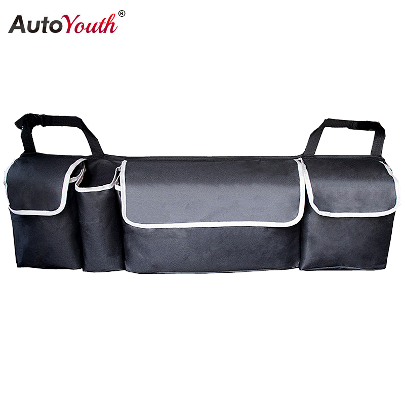 Car Trunk Organizer Adjustable Backseat Storage Bag High Capacity Multi use Oxford Car Seat Back Organizers Interior Accessories