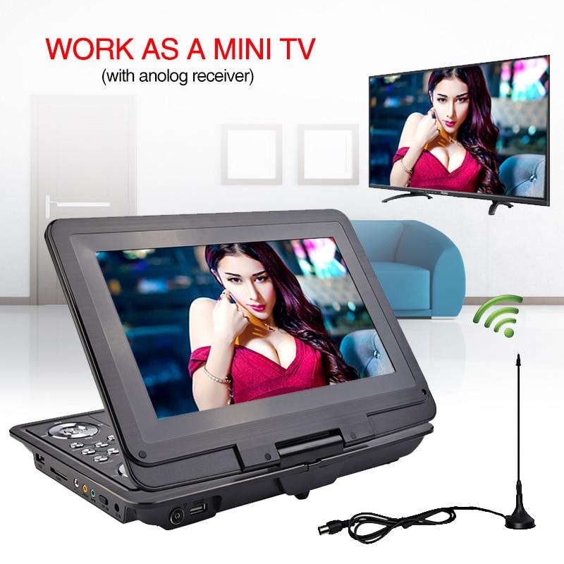 13 inç DVD Portable DVD Player Mobile Mobile Multimedia Player TV - Audio dhe video në shtëpi - Foto 2