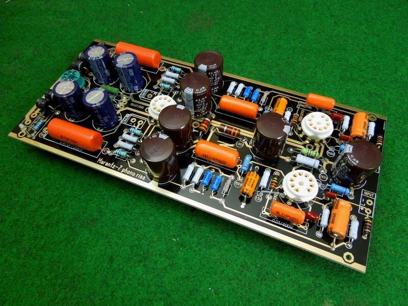 Haut de gamme M7 Tube à vide Phono Riaa LP platine vinyle préamplificateur HiFi stéréo Marantz 7 préampli assemblé conseil (sans Tube)