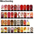 5sheets Fashion Designs Water Transfer Stickers Nail Art Tips Flowers Decals Manicure Nail Tools