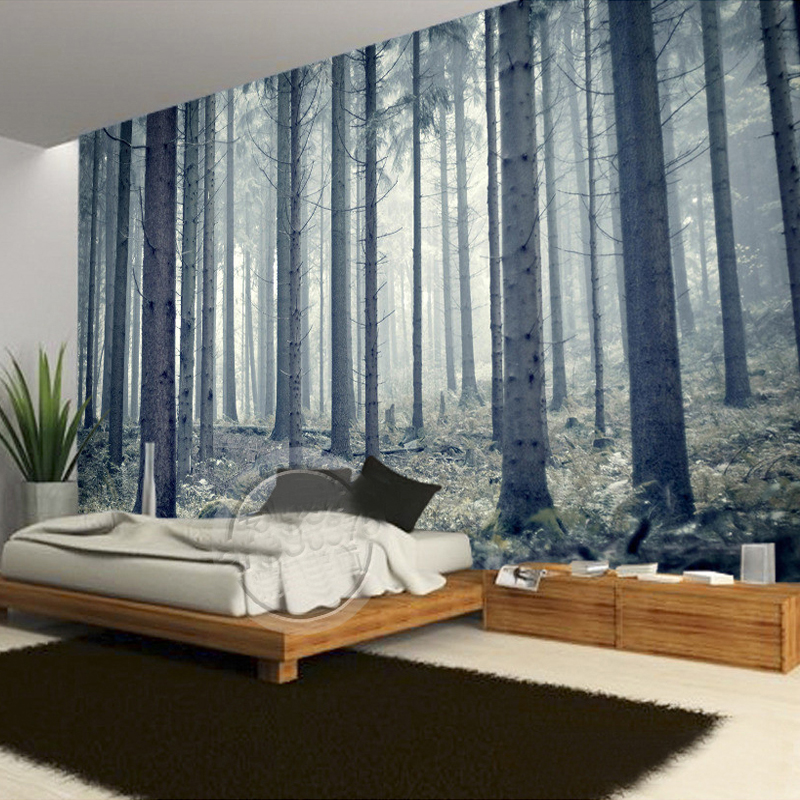 Personalized Space Expansion Forest Tree 3D Photo Mural ...