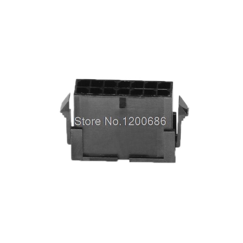 2 * 7p 430201400 Micro-Fit 3.0 Plug Housing Dual Row 14 Circuits 14pin 14p Rectangular Housing Connector Plug Black