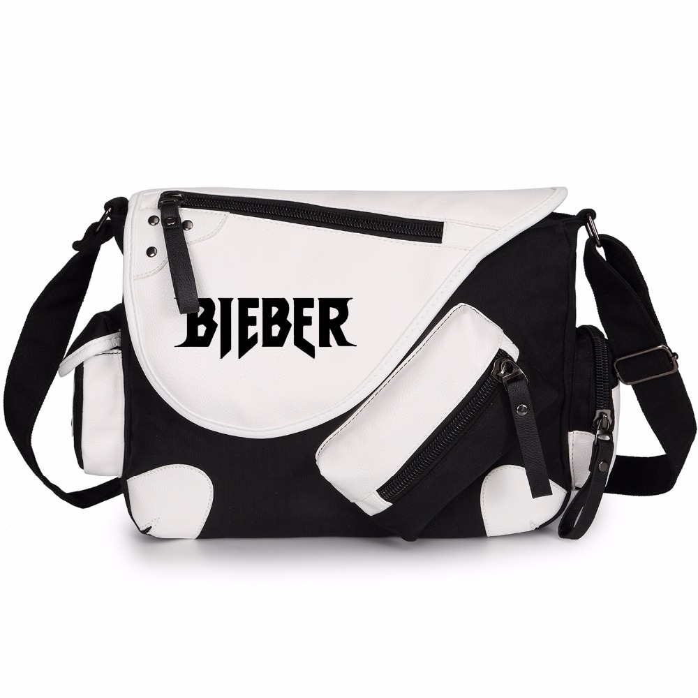 Detail Feedback Questions about WISHOT Justin bieber canvas Shoulder Bag  Messenger Bag teenagers Men women s Student travel School Bag Laptop Bags  bookbag ... a8914bc268755