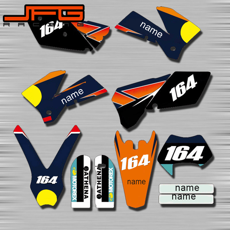 Motorcycle Customized Graphics Background Decals Stickers Kits For KTM SX SXF EXC XC XCW XCF 50 65 85 125 250 350 450 525 carb carburetor 36mm pwk fit ktm 2008 2015 250 300 xc xcw sx 2 strokes keihin